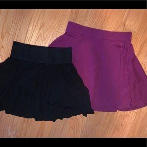 Skater Skirt Bundle - Black & Magenta